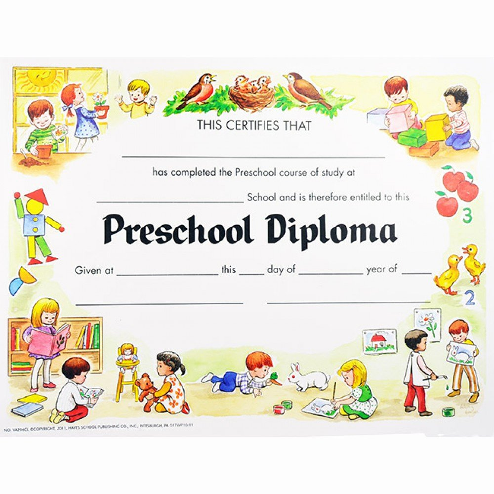 Kindergarten Certificates Free Printable Awesome Preschool Diploma