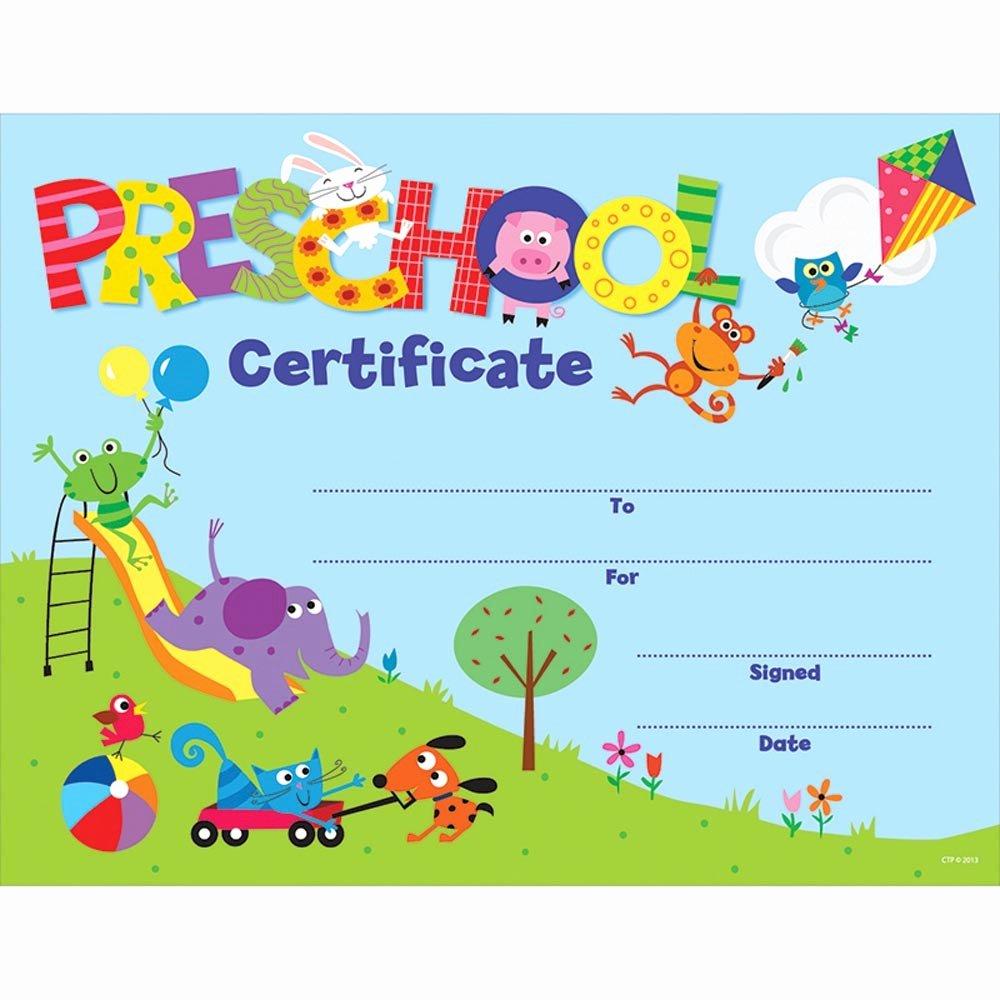 Kindergarten Certificates Free Printable Elegant Preschool Certificate Awards Ctp1398