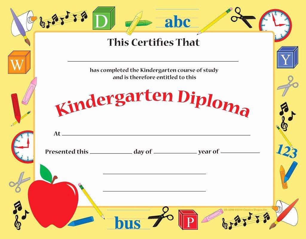 Kindergarten Certificates Free Printable Elegant Recognition Certificate Kindergarten Diploma
