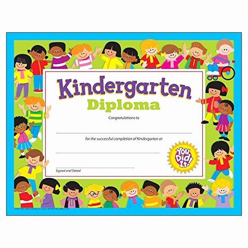 Kindergarten Certificates Free Printable Fresh Kindergarten Graduation Certificates Amazon