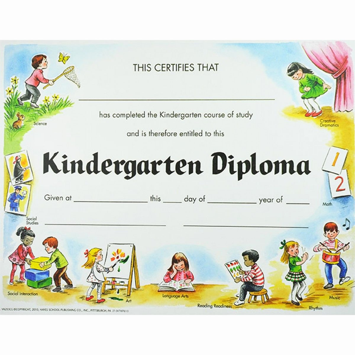 Kindergarten Diploma Template Free Awesome Kindergarten Diploma Graduation source