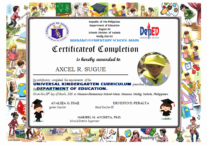 Kindergarten Diploma Template Free Beautiful Kindergarten Diploma Editable Deped Lp S