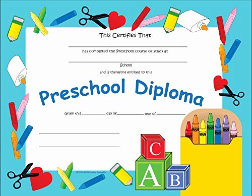 Kindergarten Diploma Template Free Beautiful Preschool Graduation Certificates at Megacostum