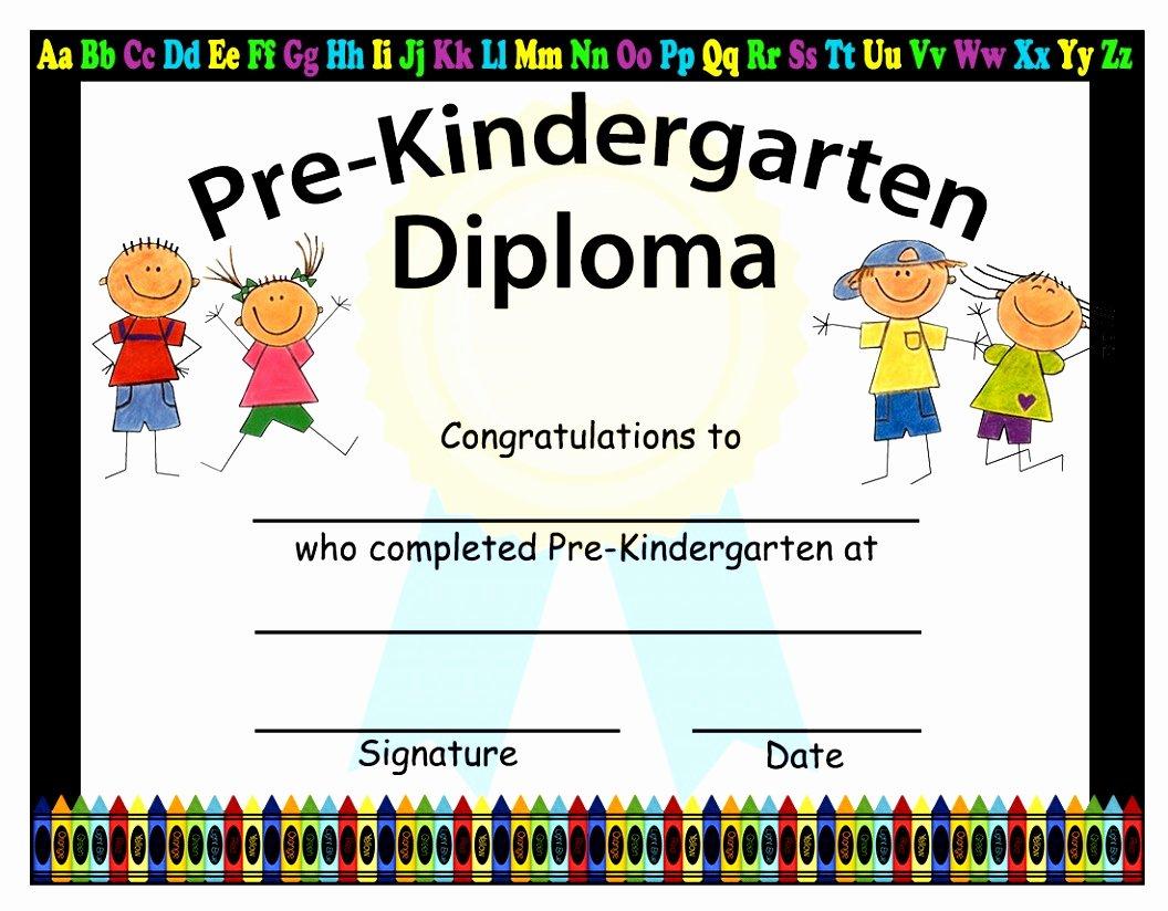 Kindergarten Diploma Template Free Inspirational 12 Free Printable Kindergarten Diploma Template Tuakt