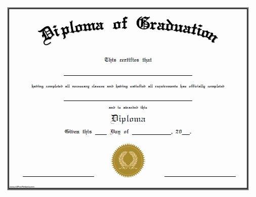 Kindergarten Diploma Template Free Inspirational Blank Graduation Certificate