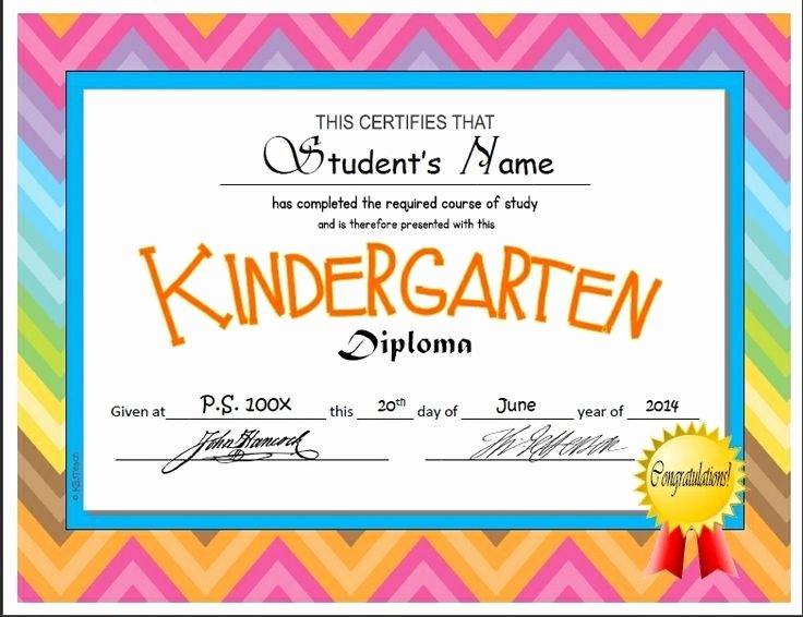 Kindergarten Diploma Template Free Inspirational Kindergarten & Pre K Diplomas Editable