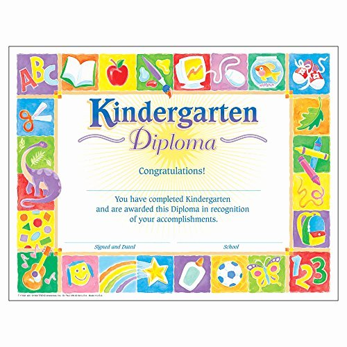 Kindergarten Diploma Template Free Inspirational Kindergarten Graduation Certificates Amazon