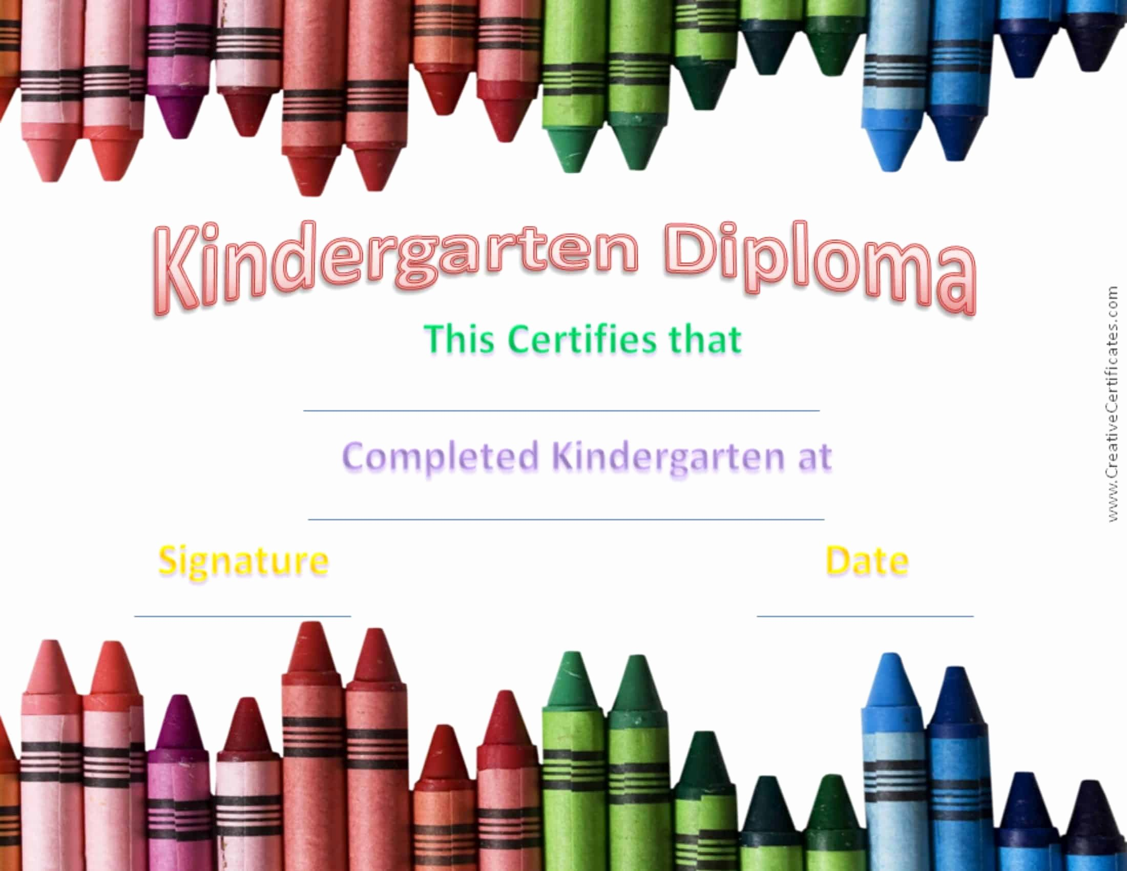 Kindergarten Diploma Template Free Lovely Free Custom Kindergarten Graduation Certificates