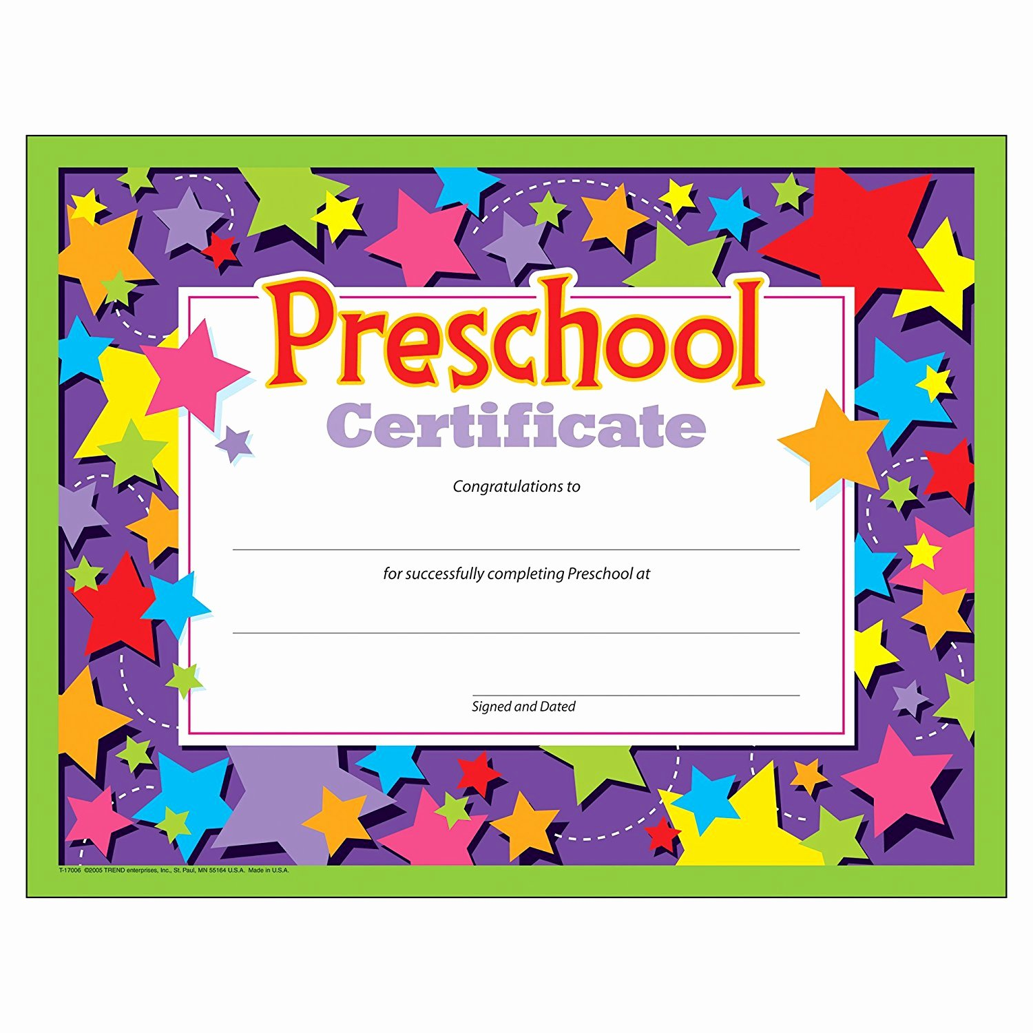 Kindergarten Diploma Template Free Luxury Preschool Graduation Certificate 30 Count Ctt Graphics
