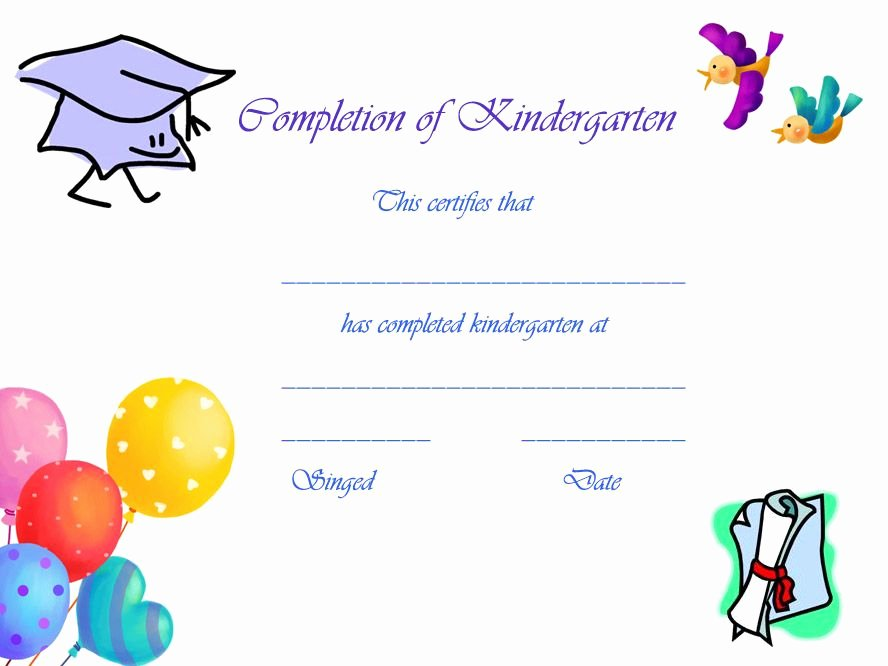 Kindergarten Diploma Template Free Luxury Preschool Graduation Certificates Free Printables