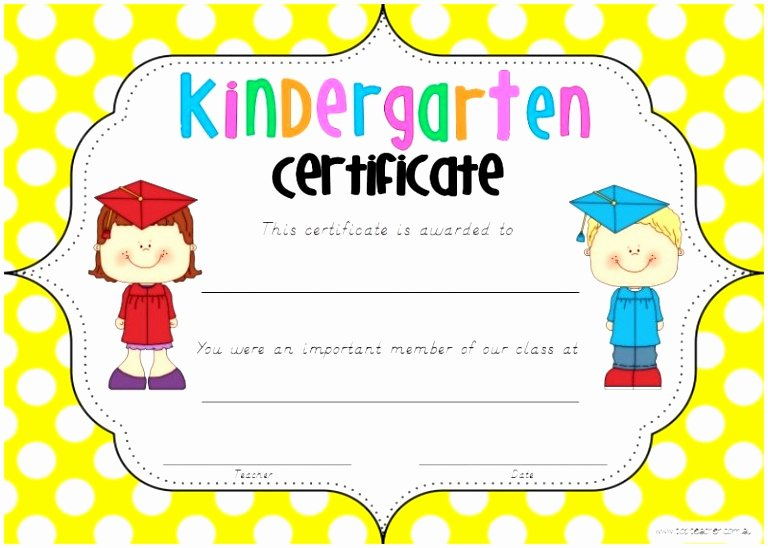 Kindergarten Diploma Template Free New 12 Free Printable Kindergarten Diploma Template Tuakt