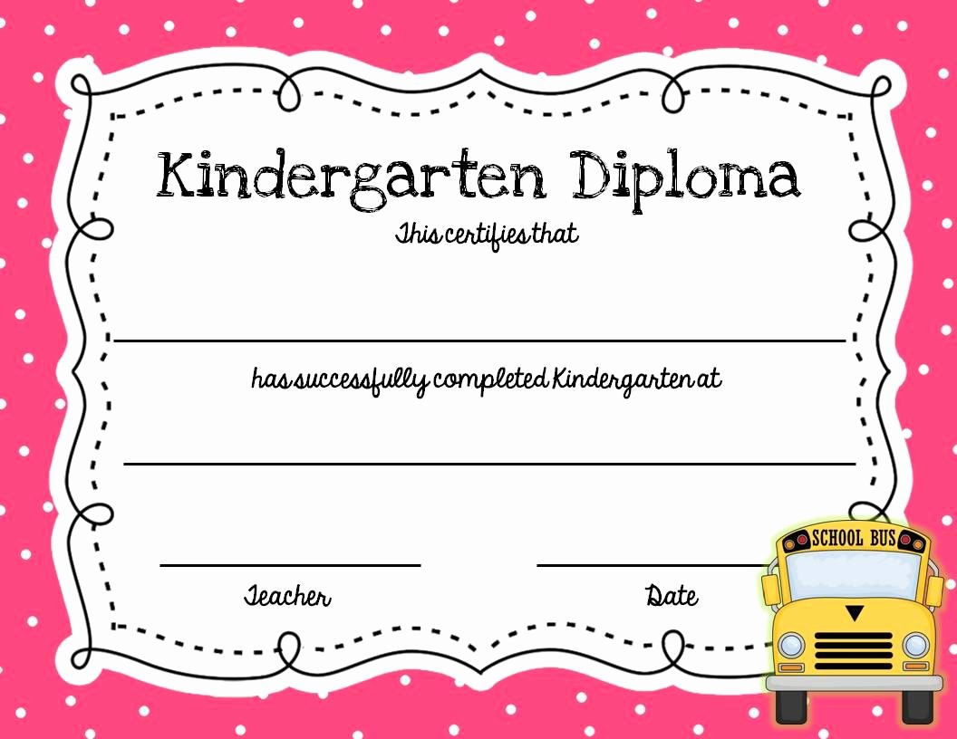 Kindergarten Diploma Template Word Beautiful Graduation Bud S Craft and Writing Templates