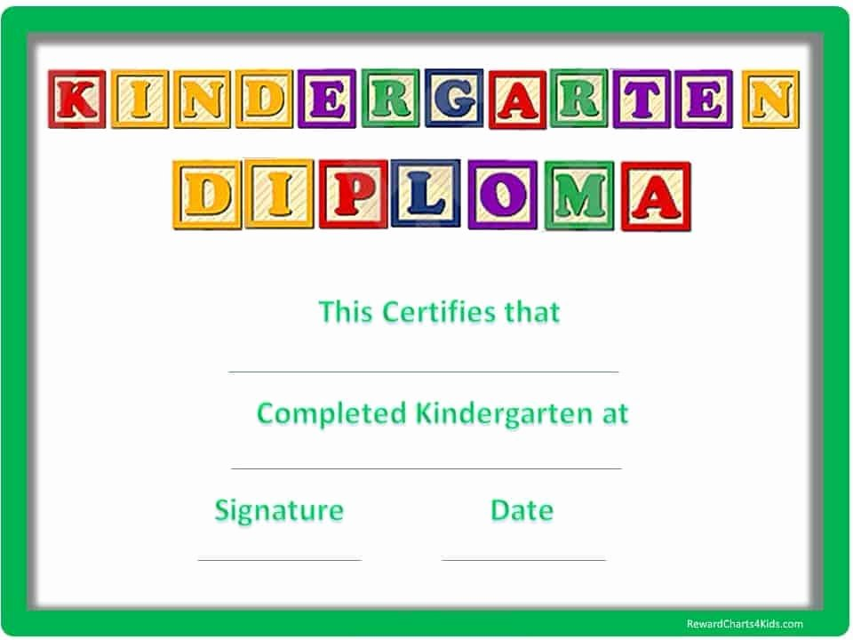 Kindergarten Diploma Template Word Beautiful Kindergarten Certificates