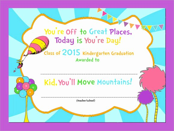 Kindergarten Diploma Template Word Best Of Free 9 Graduation Certificate Templates In Samples