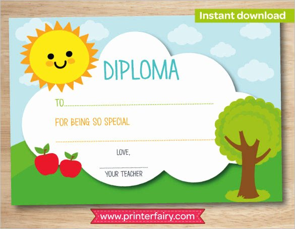 Kindergarten Diploma Template Word Best Of Preschool Graduation High Res Printable Certificate