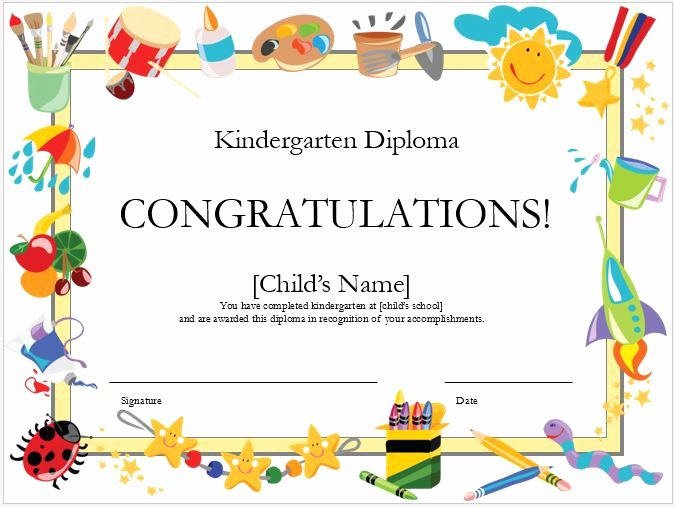 Kindergarten Diploma Template Word Luxury Preschool Calendar Templates for Ms Word & Excel