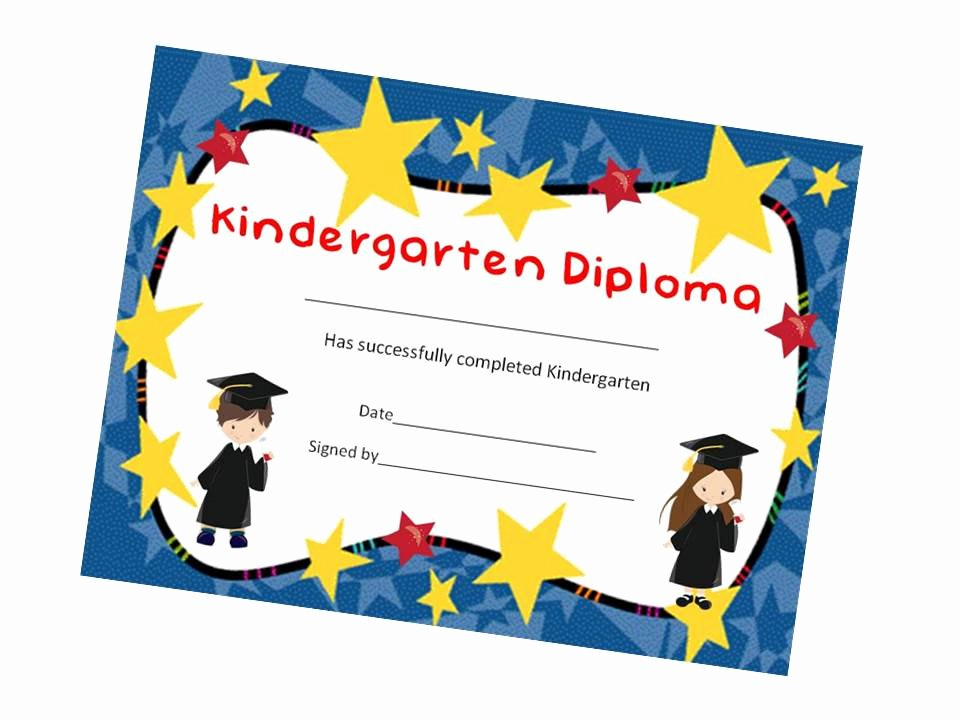 Kindergarten Graduation Certificate Free Printable Best Of Kindergarten Graduation Child Kid Diploma Certificate Award