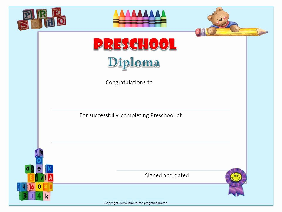 Kindergarten Graduation Certificate Free Printable Elegant Free Preschool Worksheets for Learning Colors