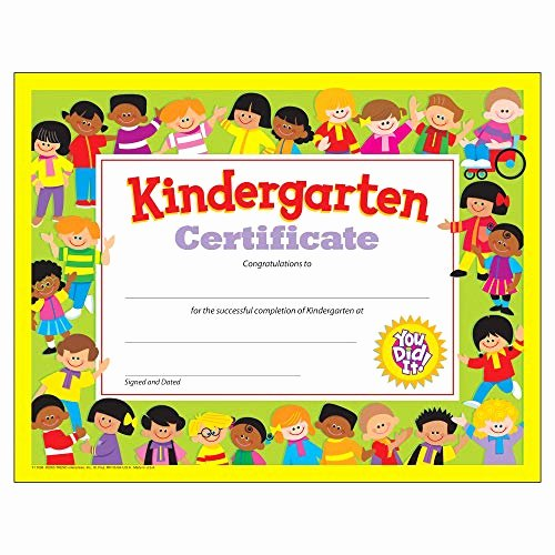 Kindergarten Graduation Certificate Free Printable Elegant Kindergarten Graduation Certificates Amazon
