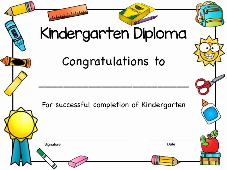 Kindergarten Graduation Certificate Free Printable Luxury Printable Kindergarten Diploma Kindergarten Graduation