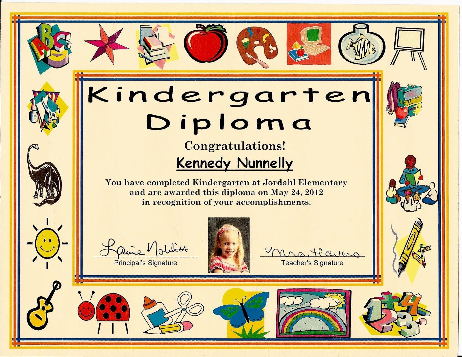 Kindergarten Graduation Certificate Template Awesome Kindergarten Graduation Certificate