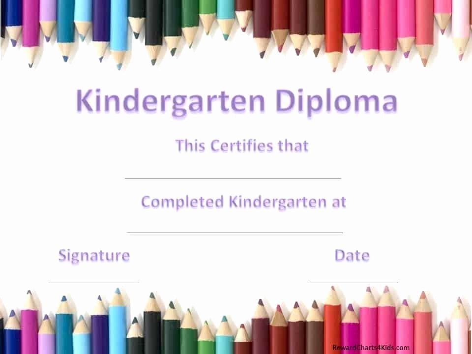 Kindergarten Graduation Certificate Template Best Of Kindergarten Certificates