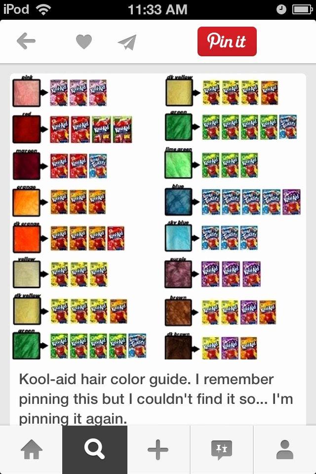 Kool Aid Hair Dye Color Chart Fresh How to Dye Your Hair with Kool Aid