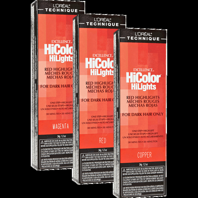 L-oreal Excellence Hicolor Chart Inspirational L oreal Hicolor Red Hilights Magenta Permanent Creme Hair