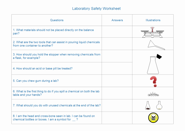 Lab Symbols Worksheet Awesome Create Lab Equipment Worksheet with Pre Made Symbols