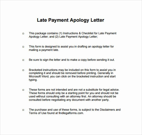 Late Payment Explanation Letter Inspirational Sample Apology Letter for Being Late 8 Free Documents