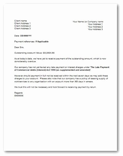 Late Payment Explanation Letter Luxury Late Payment Letter Letter
