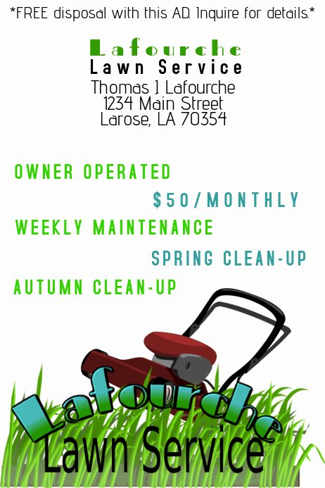 Lawn Care Flyers Free Beautiful Lawn Service Ad Template
