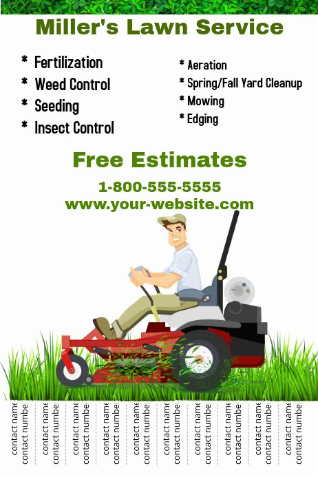 Lawn Care Flyers Free Best Of Lawn Service Template
