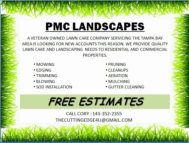 Lawn Care Flyers Free Fresh Free Lawn Mowing Flyer Template Icebergcoworking