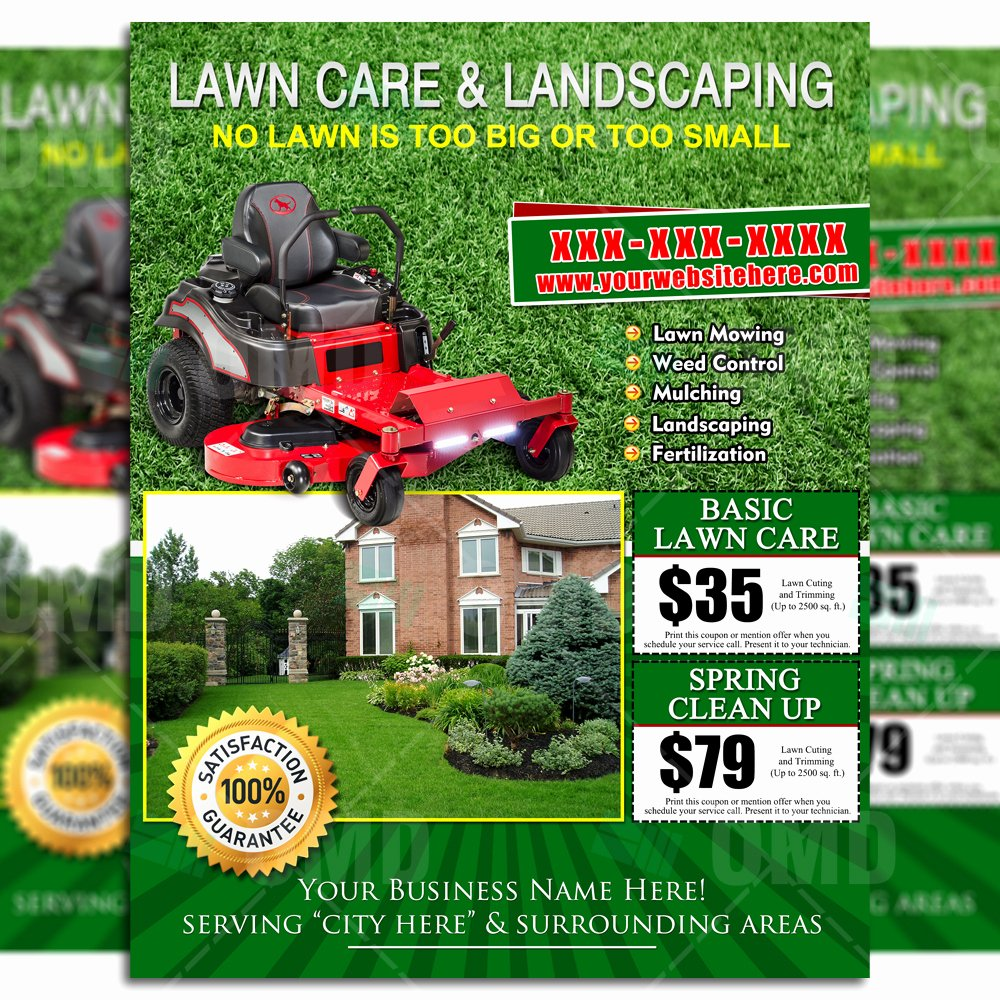 Lawn Care Flyers Free Fresh Lawn Care Flyer Design 8 – the Lawn Market