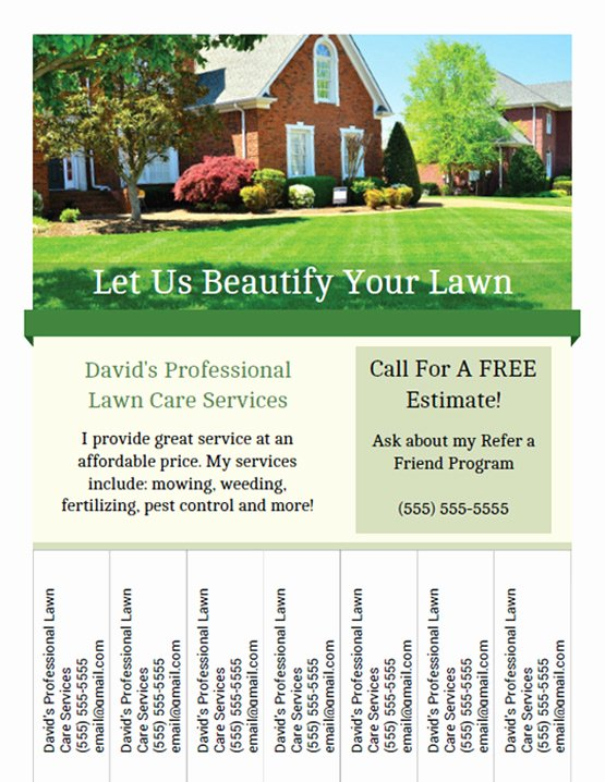 Lawn Care Flyers Free Fresh Printable Lawn Care Business Flyer Templates
