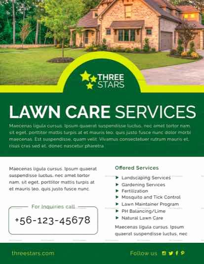 Lawn Care Flyers Free Inspirational Lawn Care Flyer Templates