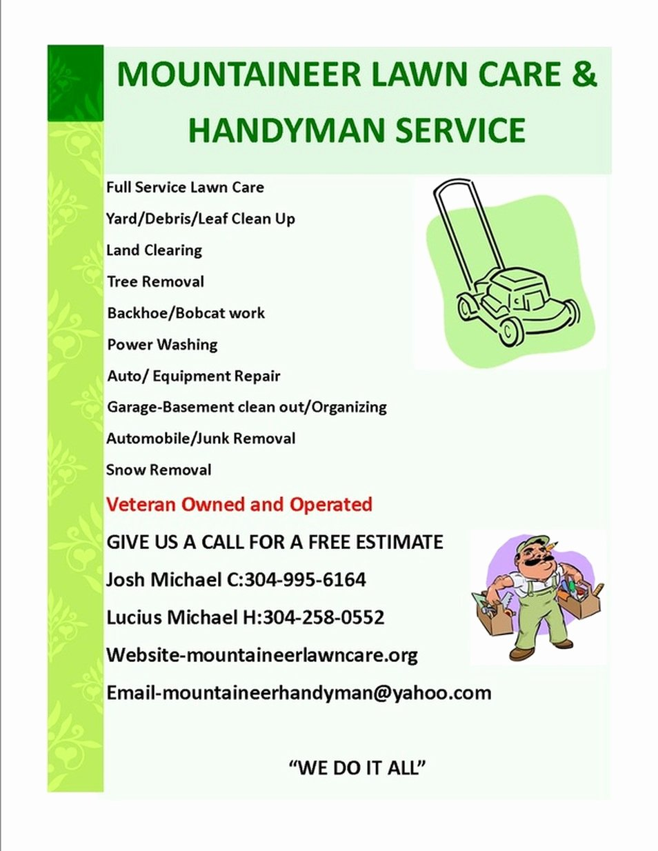 Lawn Care Flyers Free Luxury Lawn Care Flyer