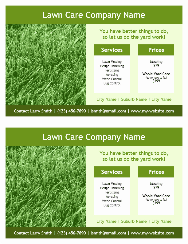 Lawn Care Flyers Free Luxury Lawn Care Flyer Template for Word