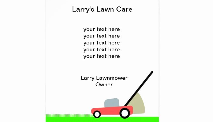 Lawn Care Flyers Free New June 2014 Af Templates
