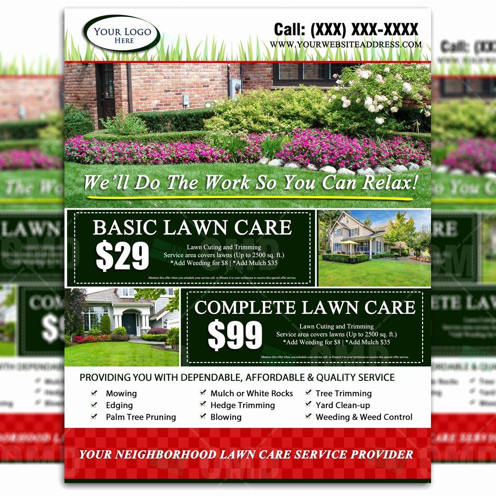 Lawn Care Flyers Free Unique Lawn Care Flyer Design 2 – the Lawn Market