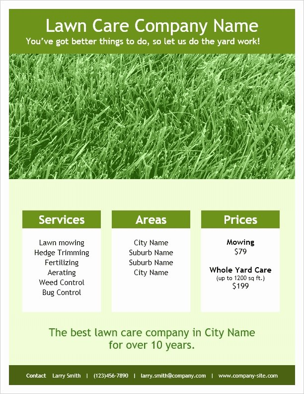 Lawn Care Flyers Free Unique Lawn Care Flyers Templates Icebergcoworking