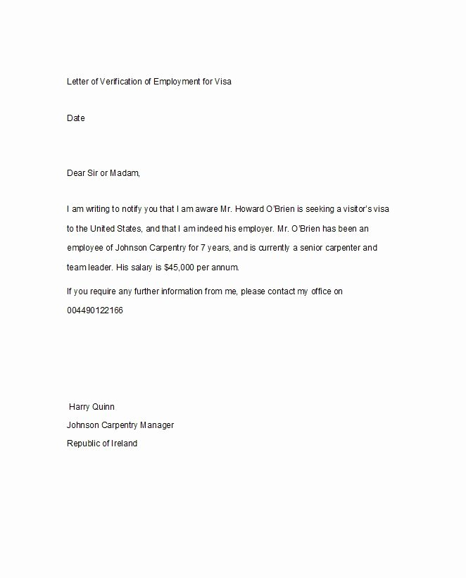 Letter Confirming Unemployment Beautiful 40 Proof Of Employment Letters Verification forms & Samples