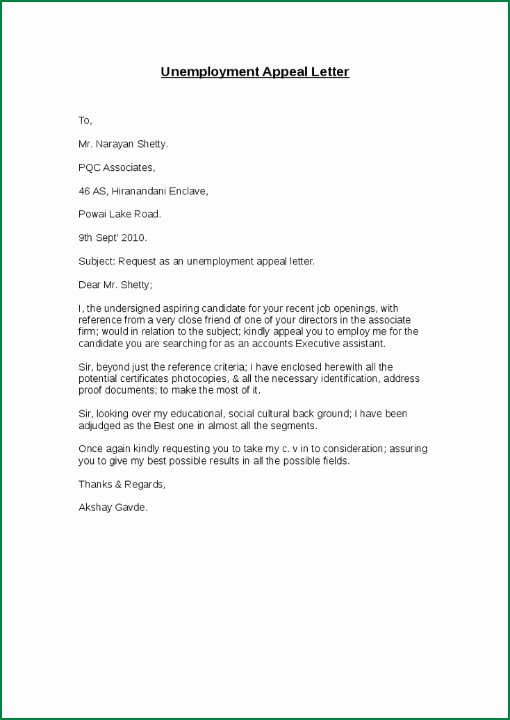 Letter Confirming Unemployment Elegant Sample Letter to Insurance Pany for Overpayment