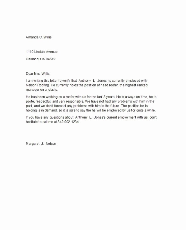 Letter Confirming Unemployment Lovely Letter Confirming Employment Free Download Aashe