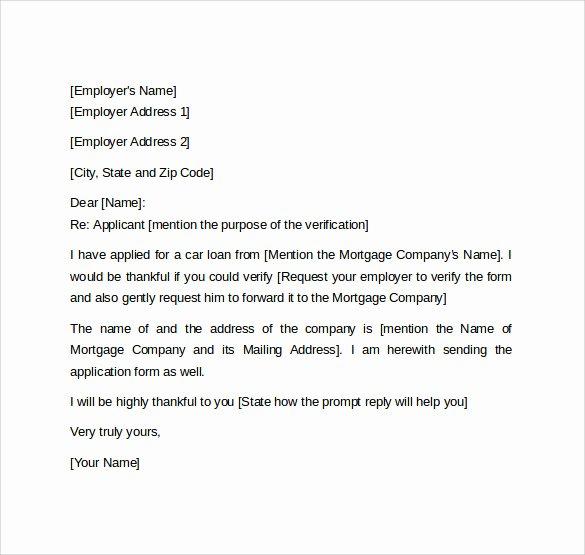 Letter Confirming Unemployment New Employment Verification Letter 14 Download Free
