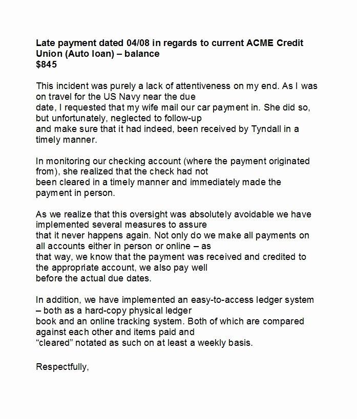 Letter Explanation Late Payment Fresh 48 Letters Explanation Templates Mortgage Derogatory