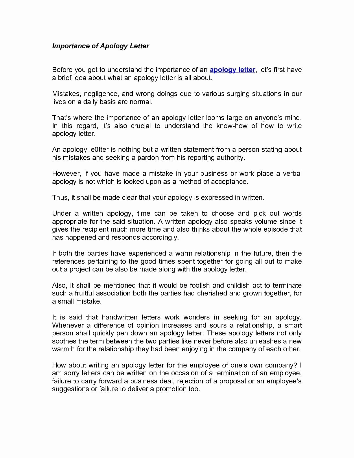 Letter for Explanation Of Mistake Made Awesome Business Apology Letter for Mistake Icebergcoworking