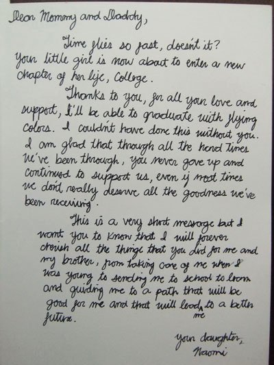 Letter for Graduation New A Letter From My Daughter On Her Graduation Day