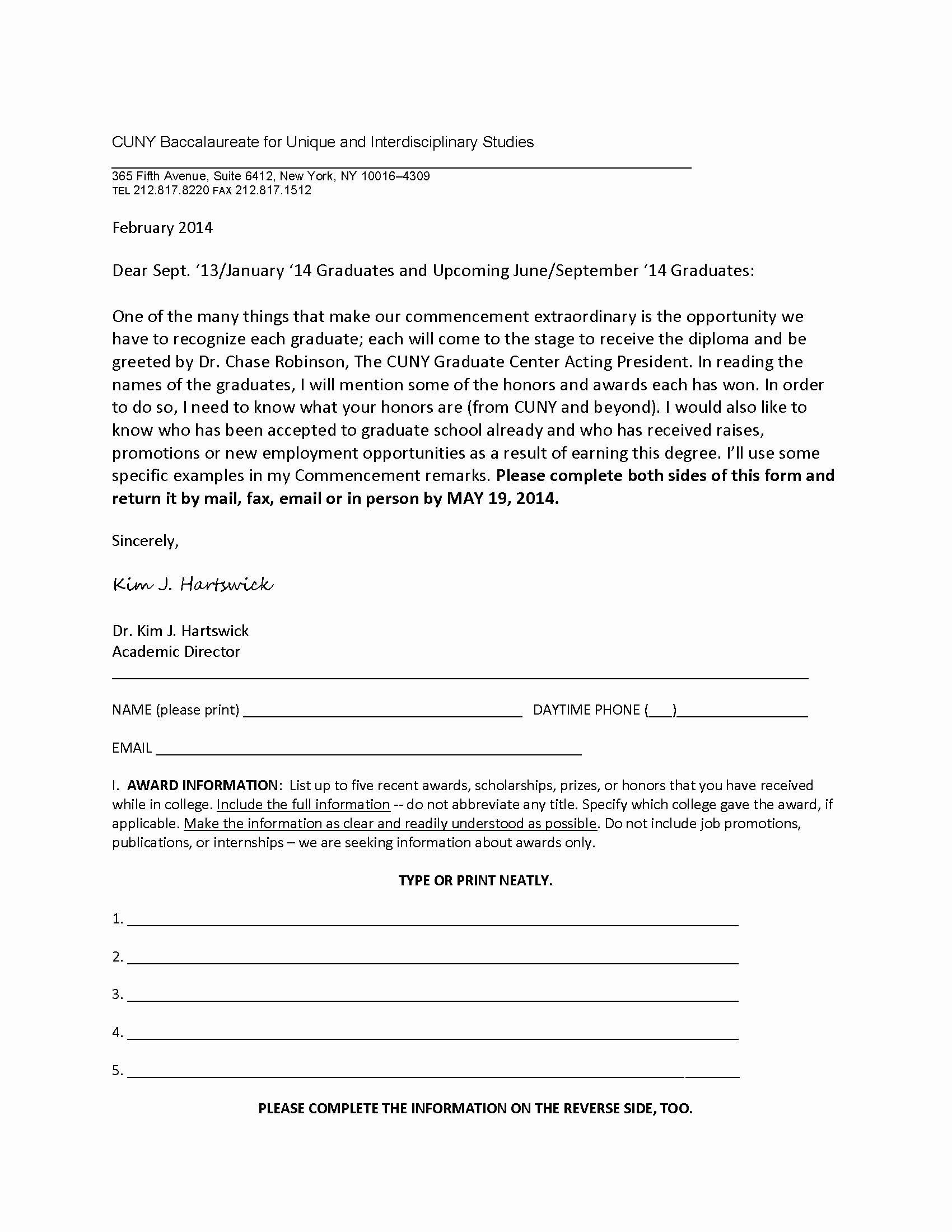 Letter for Graduation Unique Graduation Ceremony Invitation Letter